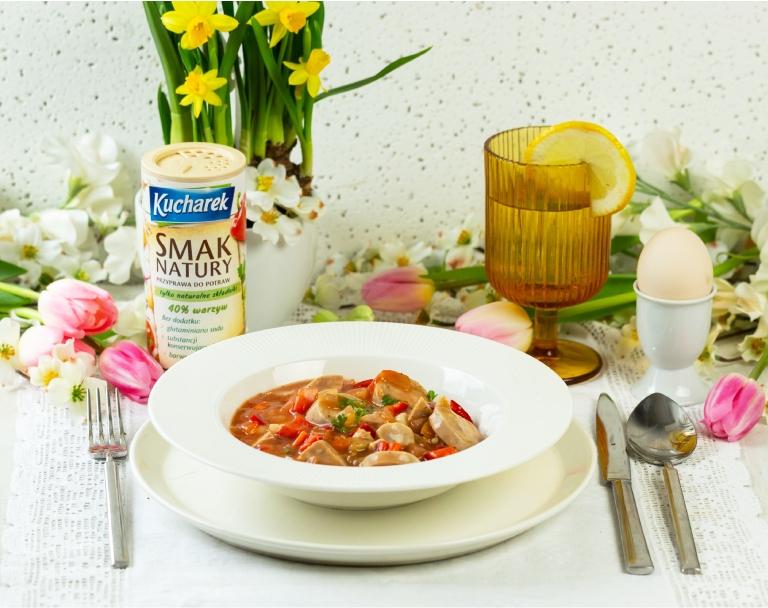 Zupa gulaszowa z białej kiełbasy